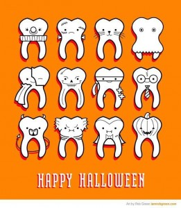 halloween candy and childrens teeth